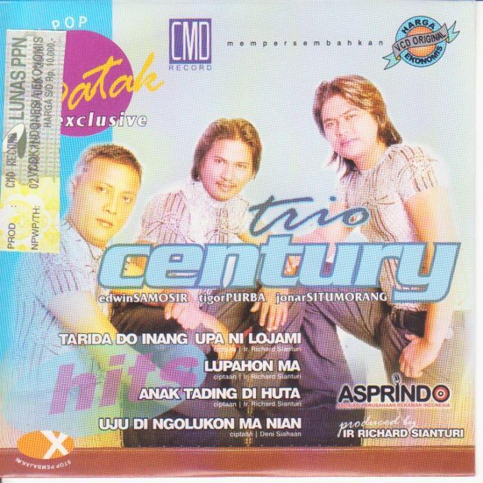 Century Trio - Tarida Do Inang Upa Ni Loja Mi